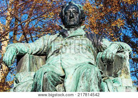 Statue Of Johann Wolfgang von Goethe In Vienna