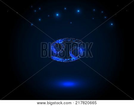 Zodiac sign on the starry sky. Astrological symbol. Zodiac circle on a blue background. Stars. Circle of Life.