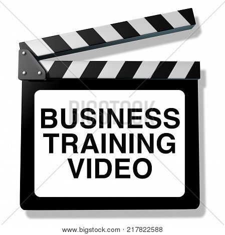 Business training video and employee instruction course as a 3D illustration skills training and instructional program.