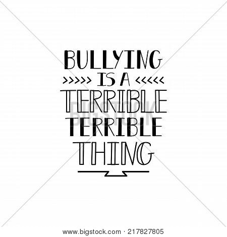 Bullying is a terrible terrible thing. Conceptual vector illustration. Social problems of humanity.