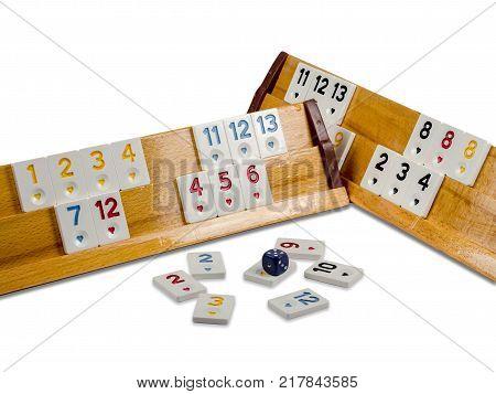 okey game on white background played in turkey