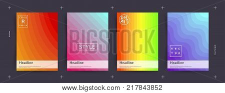 Colorful abstract covers set. Cool gradient shapes composition. Eps10 vector.