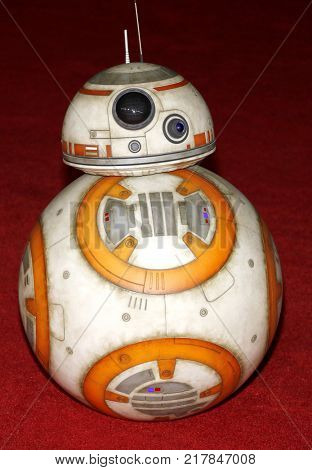 BB-8 at the World premiere of 'Star Wars: The Last Jedi' held at the Shrine Auditorium in Los Angeles, USA on December 9, 2017.
