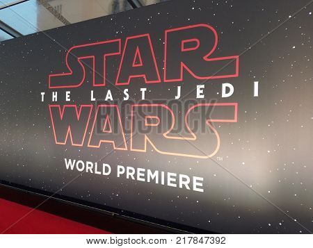 World premiere of 'Star Wars: The Last Jedi' held at the Shrine Auditorium in Los Angeles, USA on December 9, 2017.