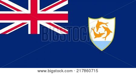 the Official vector flag of Anguilla . vector