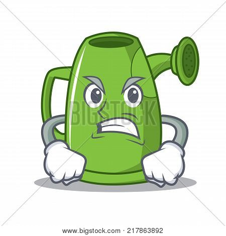 Angry watering can character cartoon vector illustration