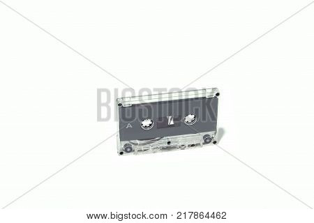 Tape cassette isolated on white background.  Concept vintage style