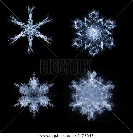 Fractal Snow Flakes