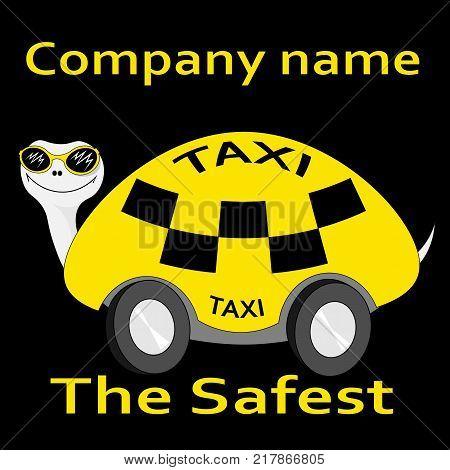 turtles-taxi sticker safest taxi concept logo icon