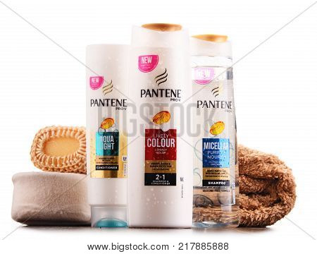 Containers Of Pantene Products Isolated On White