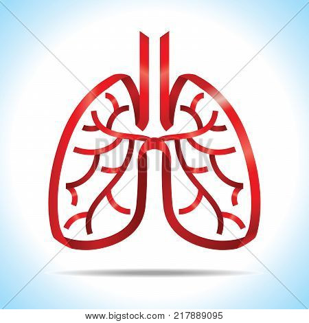 Red Ribbon Lung Vector Photo Free Trial Bigstock