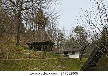 Open-Air Museum Bell tower from Schallendorf and Farmhouse from Neustift (Burgenland)