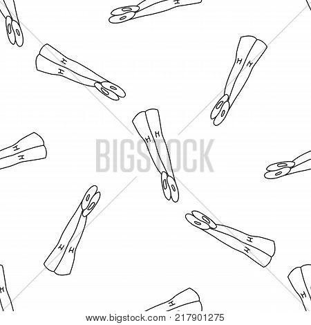 Ballet tights seamless pattern in outline style for ballet class and creative design