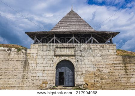 Main gateway to Khotyn Fortress in Ukraine