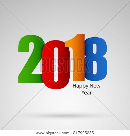 New Year wishes with colored numbers design template vector eps 10