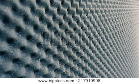 Sound absorber sheet grey color and very soft material for professional sound recording studio.