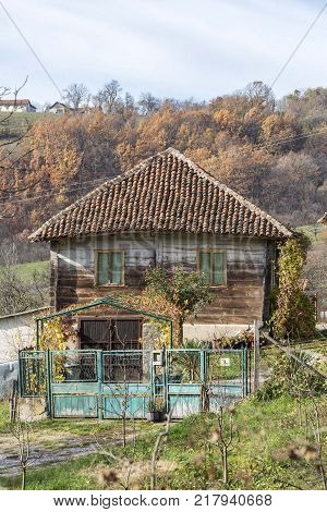 old rural ethno village house in mountain