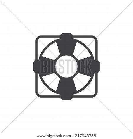 Lifebuoy icon vector, filled flat sign, solid pictogram isolated on white. Lifebelt symbol, logo illustration.