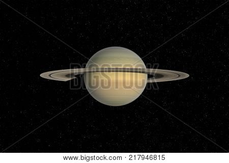Saturn planet in outer space. Elements of this image furnished by NASA