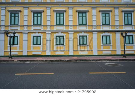 Colorful yellow building