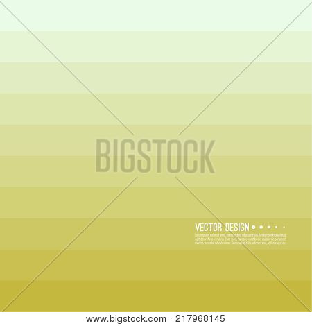 Abstract background with rhythmic rectangular horizontal stripes. Transition and gradation of color. Vector blend gradient for illustrations, covers and flyers. Color yellow, gold, beige.