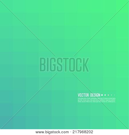 Abstract background with rhythmic overlapping squares. Transition and gradation of color. Vector blend gradient for illustrations, covers and flyer. Color green.