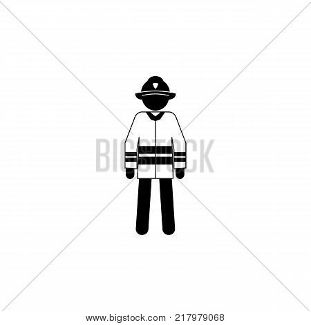 silhouette of a fireman icon. Special services element icon. Premium quality graphic design icon. Professions signs isolated symbols collection icon for websites web design on white background