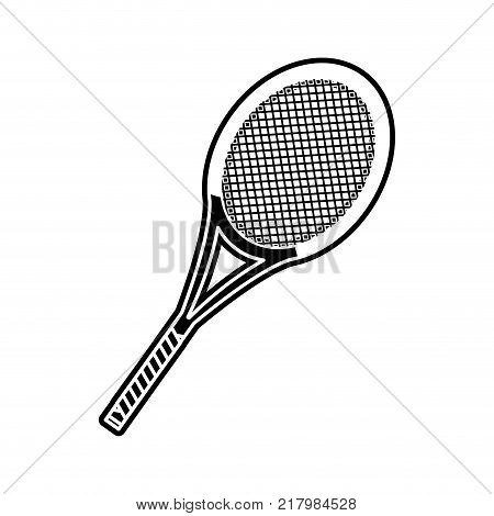 Tennis racket of sport competition and game theme Isolated design Vector illustration