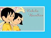 vector illustration for rakshabandhan celebration poster