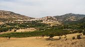Landscape around holy town of Moulay Idriss Zerhoun, near Meknes, Morrocco, Africa poster