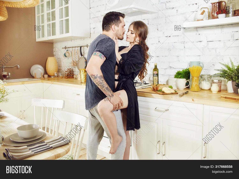 Couple Love Kitchen Image Photo Free Trial Bigstock
