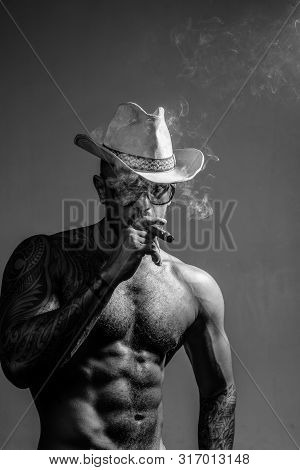 Colombian Cartel. Muscular Latin Lover. Portrait Of Brutal Handsome Latin Man. Stylish Man Looking A