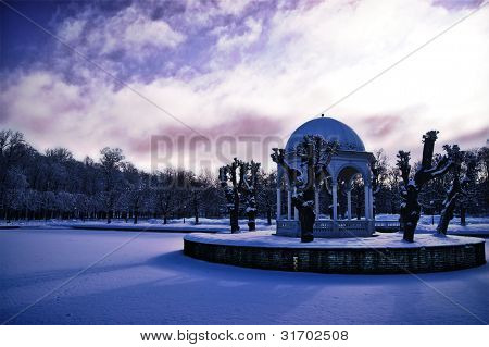 Snow covered park in Tallin