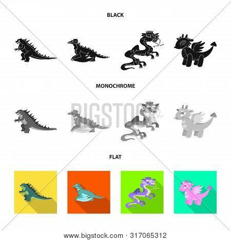 Vector Design Of Legend And Halloween Sign. Set Of Legend And History Vector Icon For Stock.