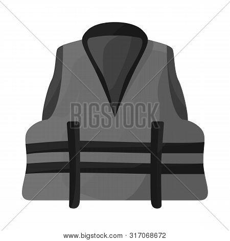 Vector Illustration Of Vest And Jacket Sign. Collection Of Vest And Lifejacket Vector Icon For Stock
