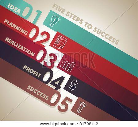 number line background for business