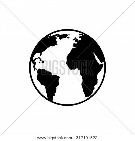 Earth Globe Icon Vector Isolated On White Background. Earth Globe Icon In Trendy Design Style. Earth
