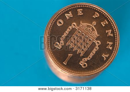 Stack Of Penny Coins