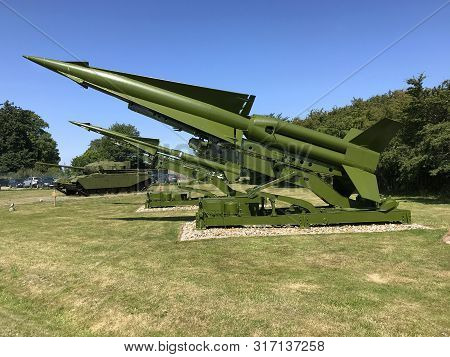 Rodvig Stevns, Seeland, Denmark - July 18, 2019: The Nike Hercules Sam-a-25 And Later Mim-14, Surfac