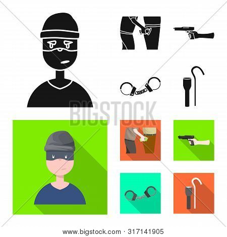 Vector Illustration Of Crime And Steal Icon. Collection Of Crime And Villain Stock Vector Illustrati