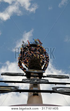 View Alongside Trunk Of A Maypole, A Relict Of Germanic Paganism