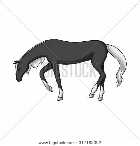 Vector Illustration Of Running And Horse Sign. Collection Of Running And Hoofed Stock Vector Illustr