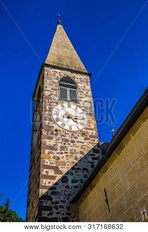 Tower Of Santa Maddalena Church - Val Di Funes, South Tyrol, Italy