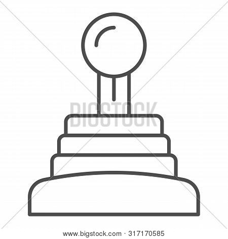Gearbox Thin Line Icon. Speed Shifter Vector Illustration Isolated On White. Manual Gearbox Outline