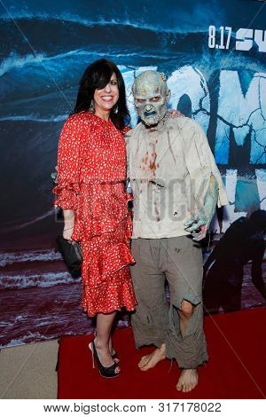 LOS ANGELES - AUG 12: Jodi Kimberly, Water Zombie at the Premiere Of SyFy's