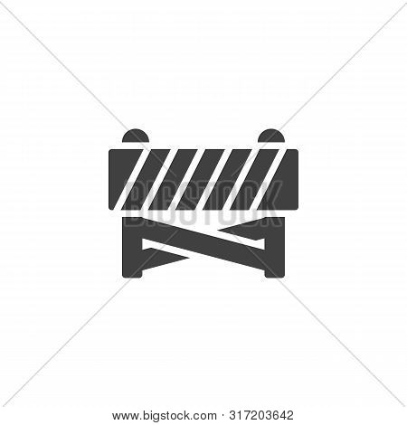 Construction Barrier Vector Icon. Filled Flat Sign For Mobile Concept And Web Design. Construction B
