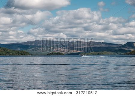 Loch Lomond, Nr Balloch, Scotland - 11th May 2019. A Seaplane Taking Tourists On A Sightseeing Trip