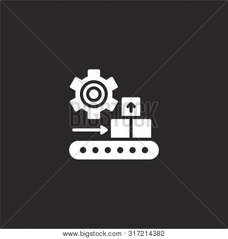 Packing Icon. Packing Icon Vector Flat Illustration For Graphic And Web Design Isolated On Black Bac
