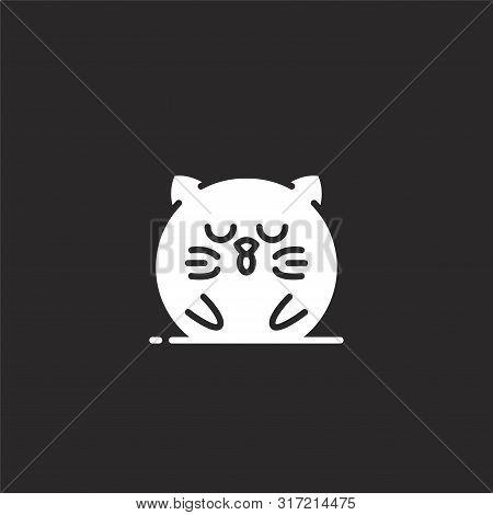 Sleepy Icon. Sleepy Icon Vector Flat Illustration For Graphic And Web Design Isolated On Black Backg