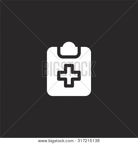 Check Up Icon. Check Up Icon Vector Flat Illustration For Graphic And Web Design Isolated On Black B